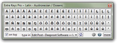 Extra Keys Pro - Austronesian